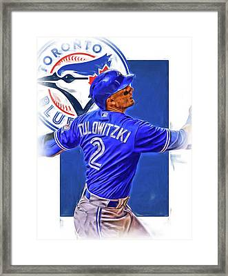 Troy Tulowitzki Toronto Blue Jays Oil Art Framed Print
