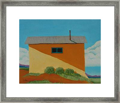 Truchas House Framed Print by Diane Cutter