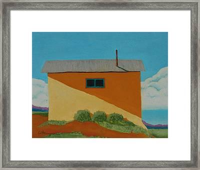 Truchas House Framed Print