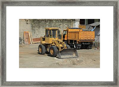 Truck And Loader Framed Print by Robert Hamm