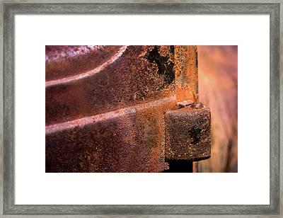 Truck Door Hinge Framed Print by Onyonet  Photo Studios
