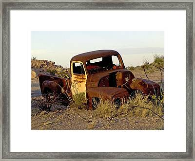Framed Print featuring the digital art Truck by Kerry Beverly