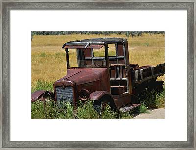 Framed Print featuring the photograph Truck Long Gone by Kae Cheatham