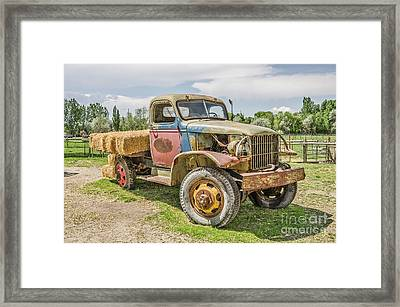 Framed Print featuring the photograph Truck Of Many Colors by Sue Smith