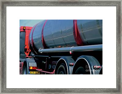 Truck On A9 Highway Framed Print by Sami Sarkis