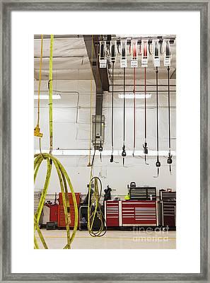 Truck Repair Shop Framed Print by Don Mason