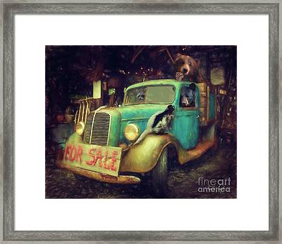 Truck Sale Framed Print by Tim Wemple