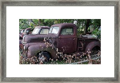 Truck Stop Framed Print by Ed Waldrop