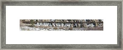 Truckee River Flumes Framed Print by Edward Hass