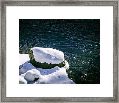Truckee River Snow Framed Print