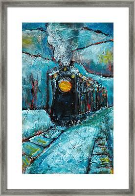 Truckee Train 1 Framed Print by Sara Zimmerman