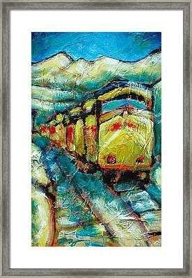 Truckee Train 2 Framed Print by Sara Zimmerman