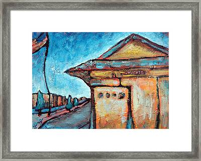 Truckee Train Depot Number 2 Framed Print by Sara Zimmerman