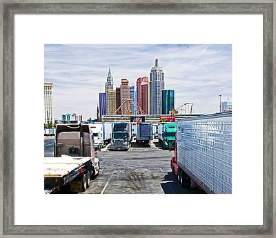 Truckers Visit Vegas.1 Framed Print