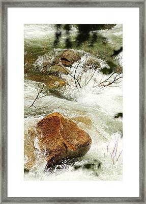 Truckey River Framed Print by Lori Mellen-Pagliaro