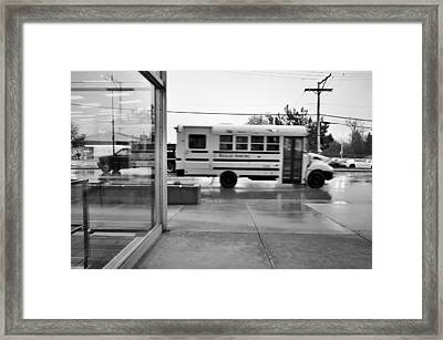 Framed Print featuring the photograph Truckin' In The Rain by Jeanette O'Toole