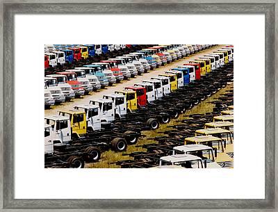 Trucks Framed Print by Amarildo Correa
