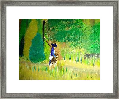 Trudging Along Framed Print by Cindy  Riley