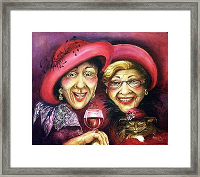 Trudy And Grace Play Dressup Framed Print