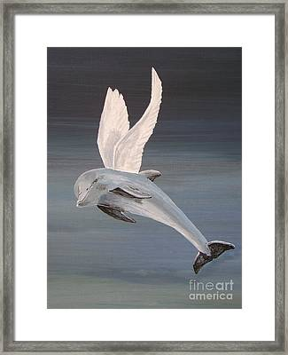 Framed Print featuring the painting True Angel 2 by Eric Kempson