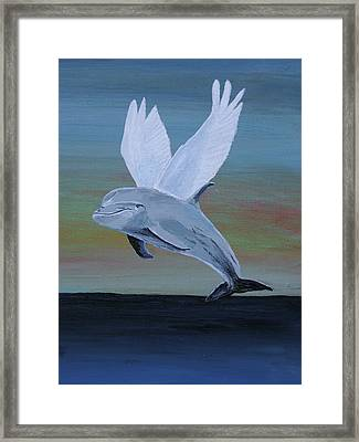 Framed Print featuring the painting True Angel 3 by Eric Kempson