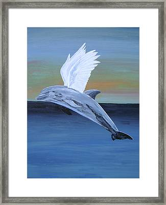 Framed Print featuring the painting True Angel 4 by Eric Kempson