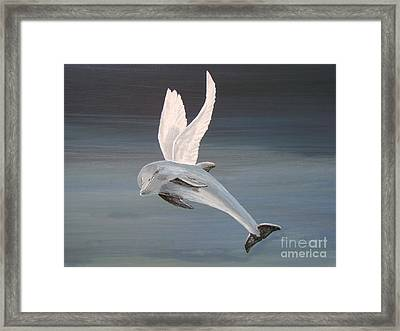 Framed Print featuring the painting True Angel by Eric Kempson