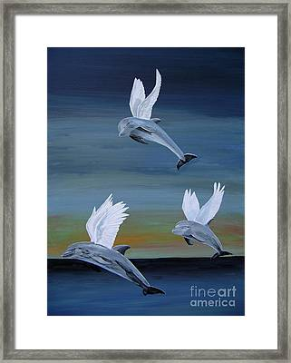 Framed Print featuring the painting True Angels by Eric Kempson