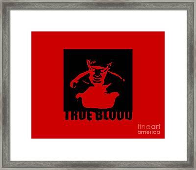 True Blood  Eric Northman Vampire Stencil Framed Print by Paul Telling