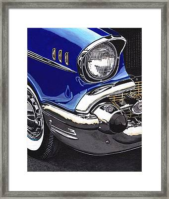True Blue '57 Framed Print