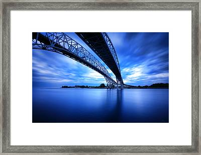 True Blue View Framed Print