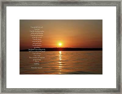 True Colors Poem For Tom P Framed Print
