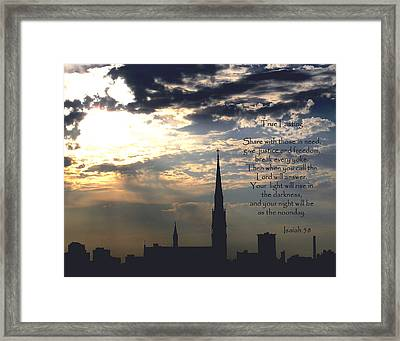 True Fasting Framed Print