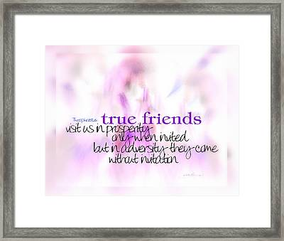 True Friends Framed Print by Vicki Ferrari