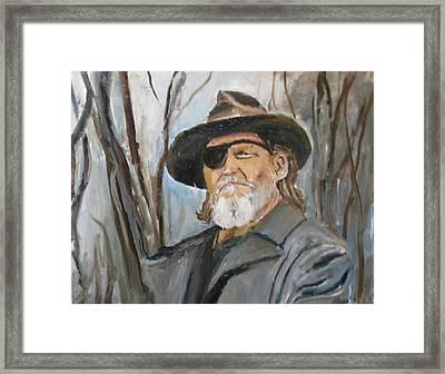 True Grit Jeff Bridges Framed Print by Udi Peled