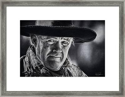 True Grit Framed Print by Shayla Bowen