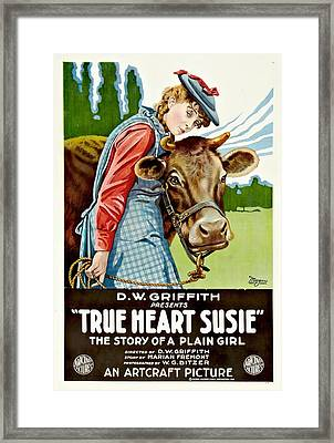 True Heart Susie 1919 Framed Print by Mountain Dreams