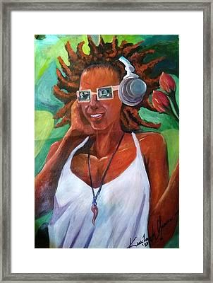 True Jamaican Rhythm Framed Print by Kirkland  Clarke