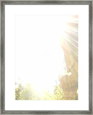 True Light Lower Emerald Pools Zion Framed Print