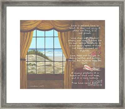 True Love Quote Framed Print