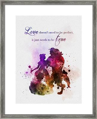 True Love Framed Print by Rebecca Jenkins