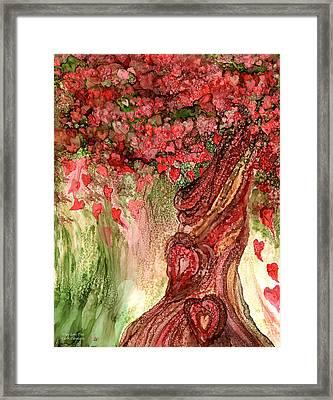 True Love Tree Framed Print by Carol Cavalaris