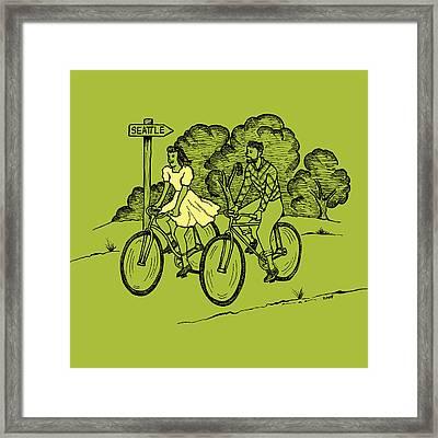 True Romance Bike Ride Framed Print by Karl Addison
