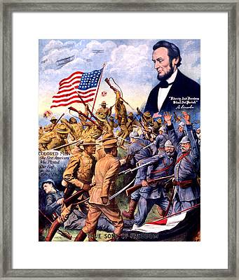 True Sons Of Freedom, African American Framed Print by Everett
