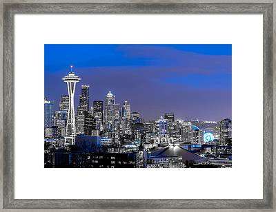 True To The Blue In Seattle Framed Print