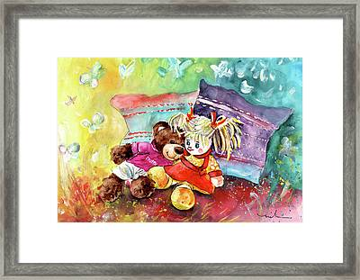Truffle Mcfurry And His Girlfriend From Portugal Framed Print by Miki De Goodaboom