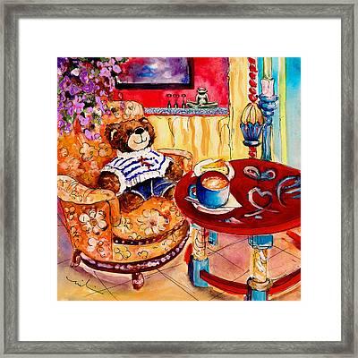 Truffle Mcfurry In Cala Ratjada Framed Print by Miki De Goodaboom
