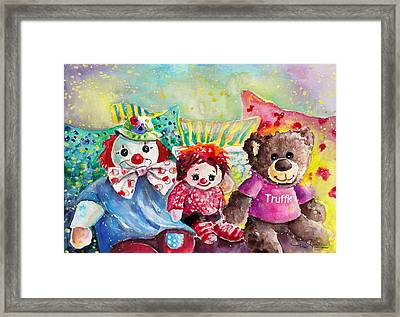 Truffle With His German Friends Monty And Chloe Framed Print by Miki De Goodaboom
