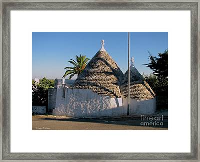 Trullo, Ostuni, Puglia Framed Print by Italian Art