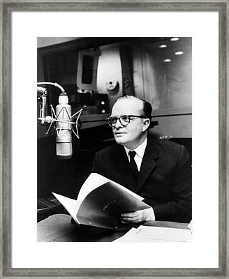 Truman Capote In Studio For A Christmas Framed Print